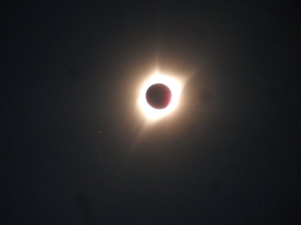 near end of totality